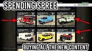 $10,000,000 SPENDING SPREE BUYING THE NEW CARS AND ARCADE GTA 5 ONLINE (Casino Heist Update)