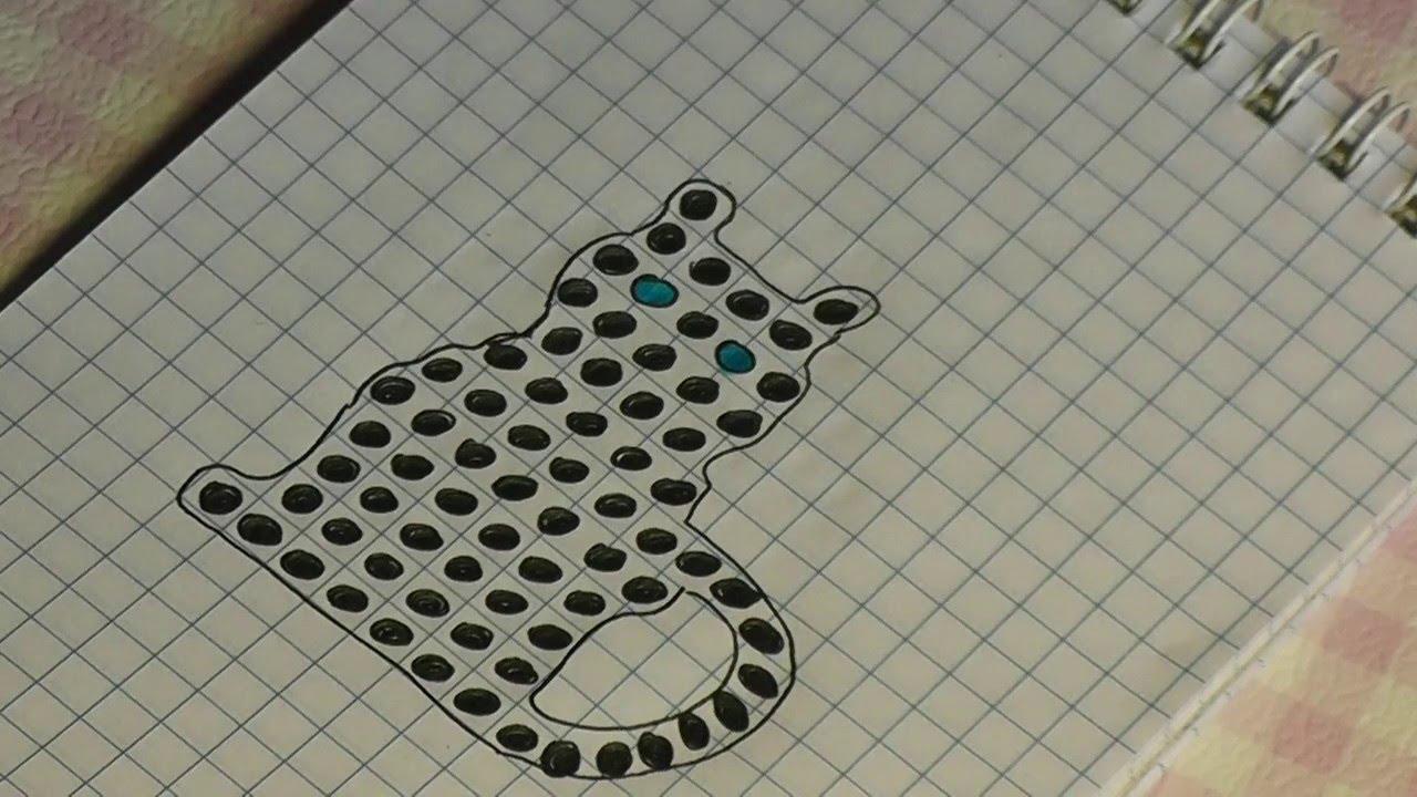 Кошка из бисера схема плетения видео