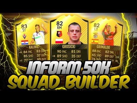 SICK INFORM 50K SQUAD BUILDER! - FIFA 17 ULTIMATE TEAM