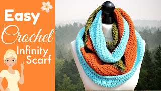 How to Crochet a FAST & EASY Infinity Scarf for Absolute Beginners!
