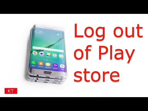 How to log out of Google play store