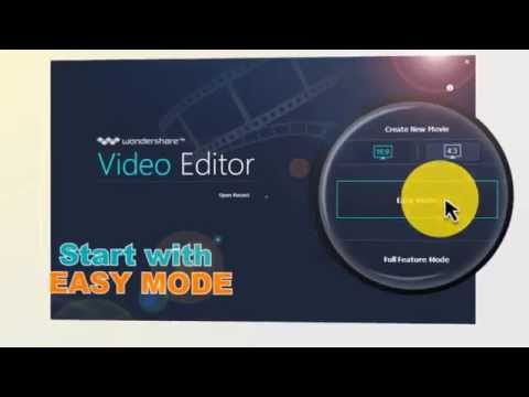 2015 Wondershare Video Editor - Easy Mode