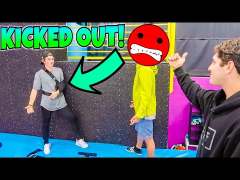 KICKED OUT OF TEMPEST SUPER TRAMPOLINE PARK w/ MIKEY MANFS & ROCCO PIAZZA!