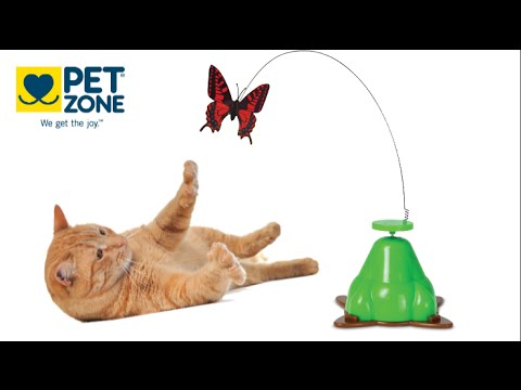 Fly By Spinner Toy Butterfly from Pet Zone