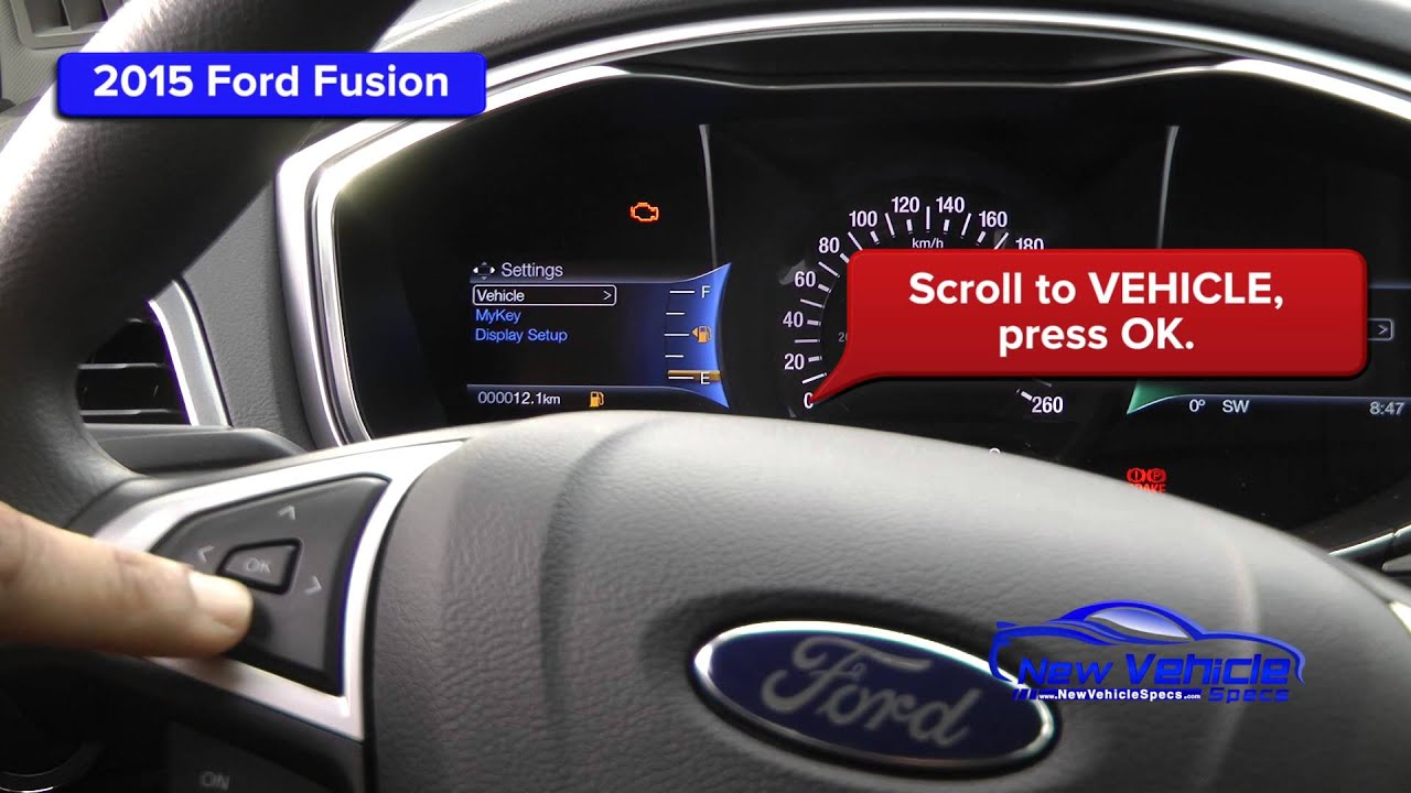 2017 Ford Fusion Oil Light Reset Service