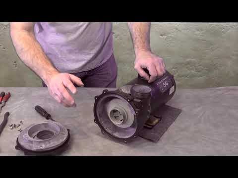 Spa Hot Tub Waterway Executive Pump Seal Impeller & Bearing Replacement How To  The Spa Guy 315-1220