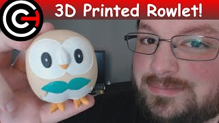 3D Printed Rowlet - Pokémon Sun & Moon Starter