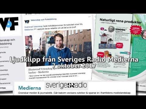 Sveriges Radio - Uppdrag: Stoppa annonser för kolloidalt silver