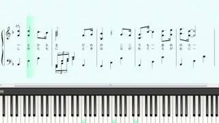 五線の無い楽譜です。 スコアメーカー7(楽譜作成ソフト)自動演奏&ピ...