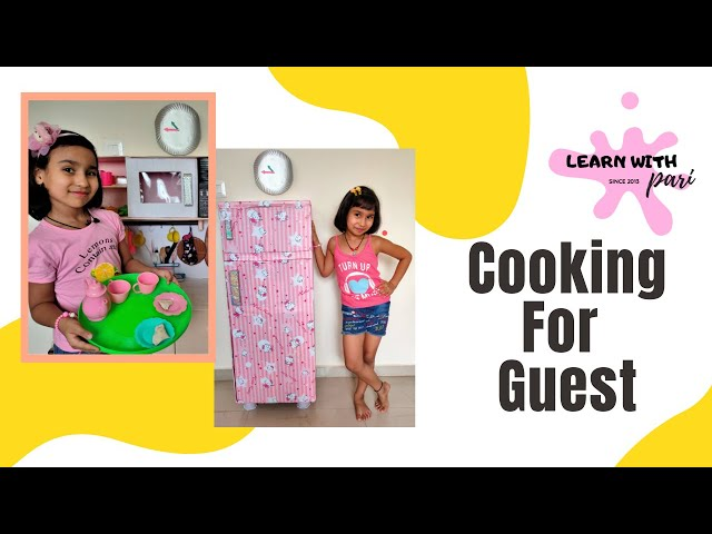 Cooking game in Hindi Part-10 | Cooking for Guest Morning to Night| Kitchen Set  / #LearnWithPari
