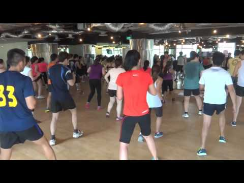 Bodycombat Class California Fitness Gym Singapore
