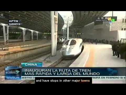 China opens longest high-speed rail line