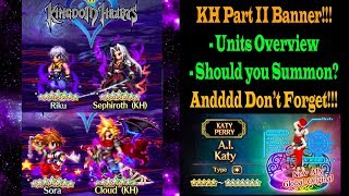 ffbe kingdom hearts part 2 riku and sephiroth banner units preview should you summon 845