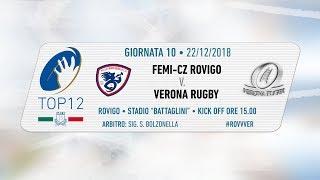 TOP12 2018/19, Giornata 10 - Femi-CZ Rovigo v Verona Rugby