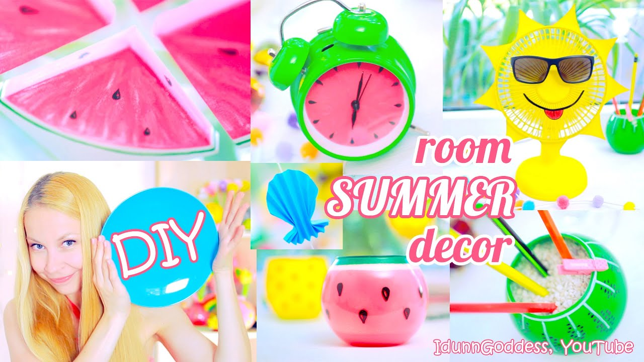 5 Diy Summer Room Decor Ideas Bright And Colorful Diy Room Decorations For Summer Youtube