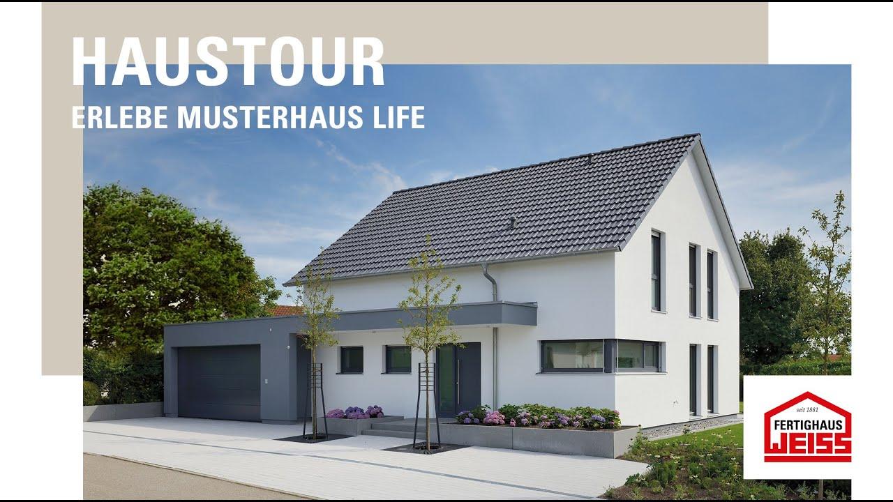 musterhaus life fertighaus weiss youtube. Black Bedroom Furniture Sets. Home Design Ideas