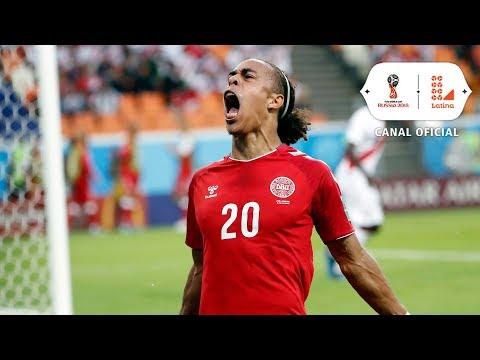 Este fue el gol que nos anotó Dinamarca | Perú vs Dinamarca