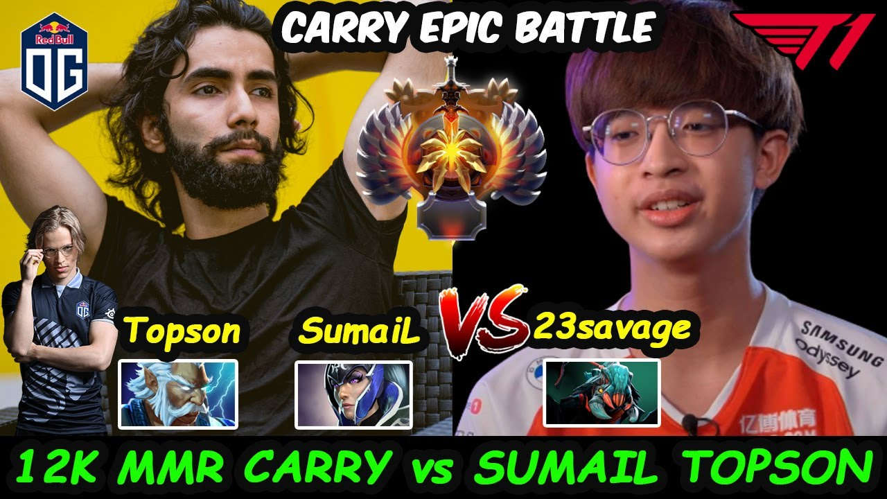 Download 23savage vs SumaiL Topson Febby  - T1 OG Carry Battle in Ti 10 Ranked Dota 2 pro Gameplay