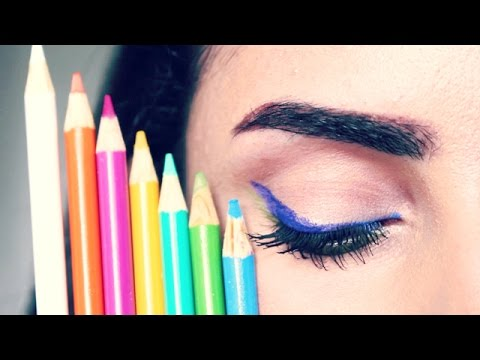 diy eyeliner out of colored pencils does it work youtube