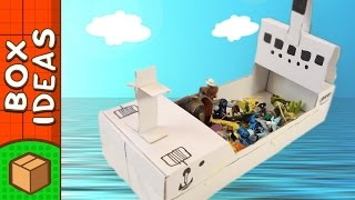 DIY Cardboard Boat | Craft Ideas For Kids on BoxYourself