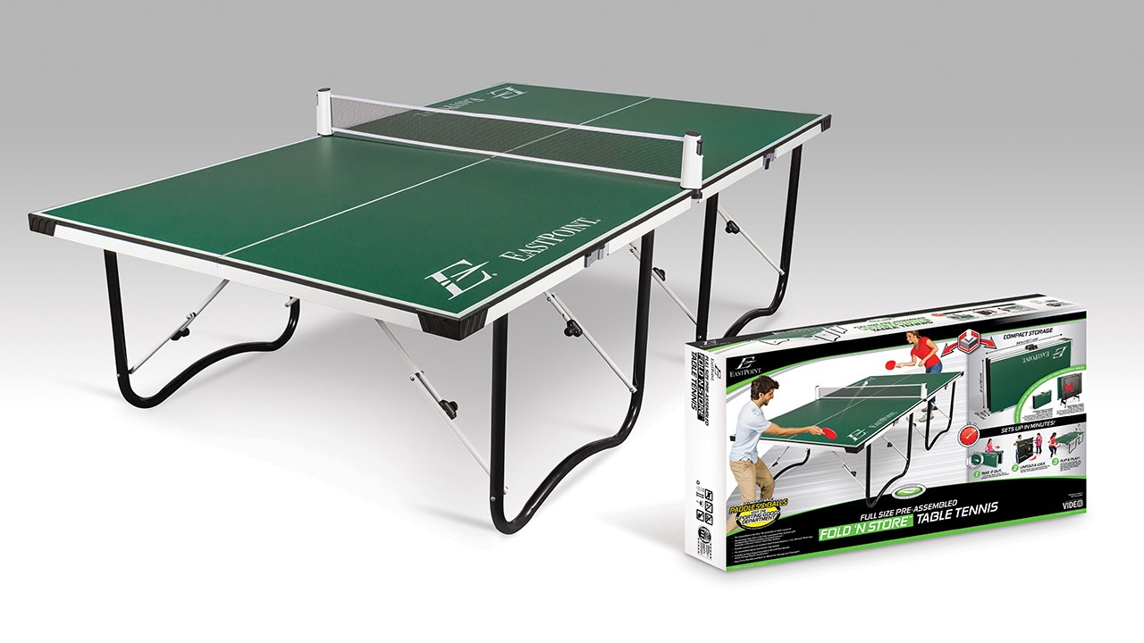 High Quality EastPoint Sports Fold U0027N Store 15mm Table Tennis Table   YouTube