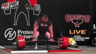 Eddie Hall 500kg - 1102.3lbs Deadlift World Record 2016 / Эдди Холл - тяга 500 кг