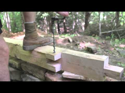 Timberframe Scarf joint / Mortise and Tenon