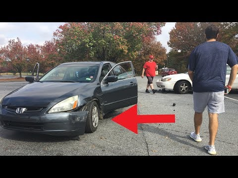 I GOT IN A CAR ACCIDENT!  Wrecked my 'Honda Accord' He pulled out in front of me…
