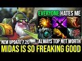 Midas on Sniper is so Freaking Good - Funny Game Everyone Hates Sniper 22Kill New Update 7.20 Dota 2