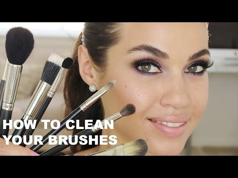 TUTORIAL   How To Clean Makeup Brushes   Eman