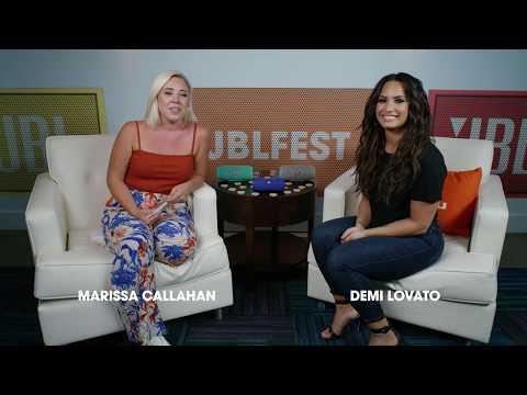 Marissa Callahan interviews Demi Lovato at JBL Fest