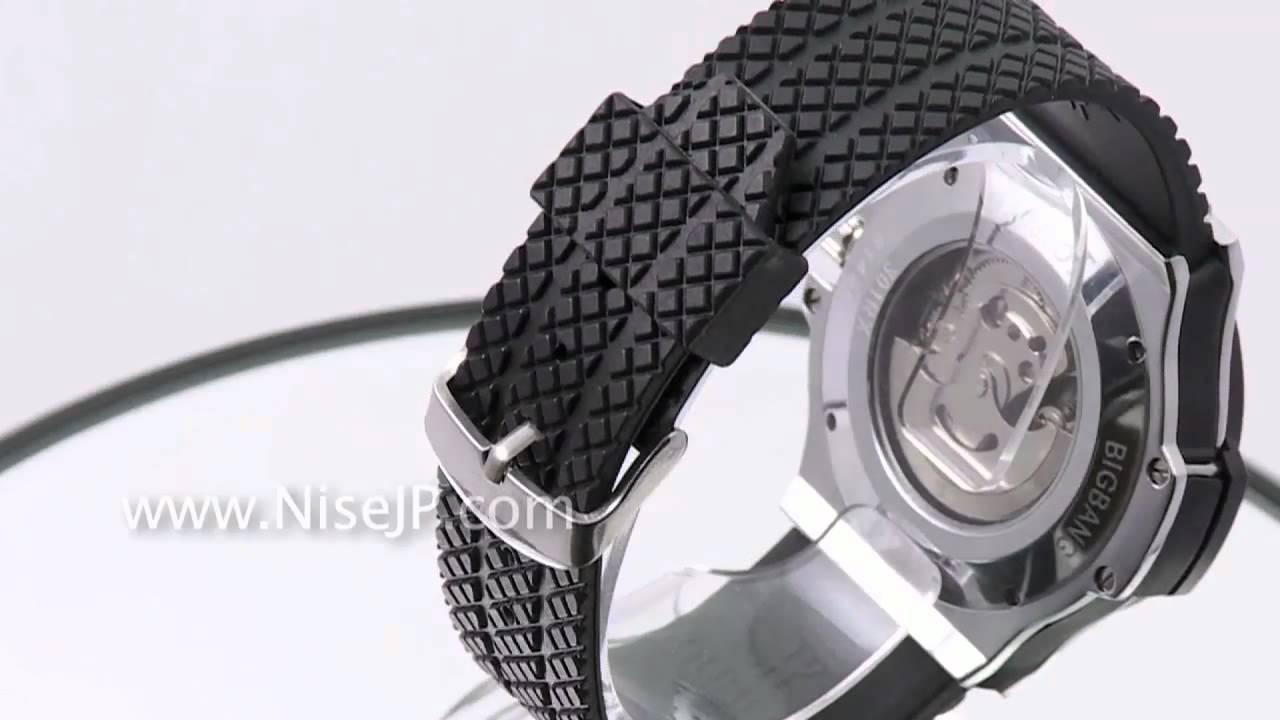 new arrival 6de54 f43bd 時計 偽物 NEW ウブロ ビッグバン ブラック ラバーベルト