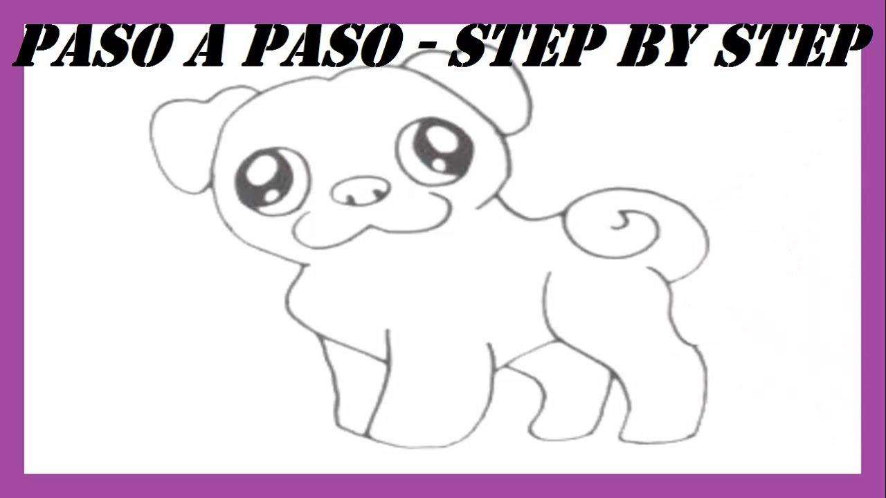 Como dibujar un Perro Doguillo l How to draw a Pug Dog l Dibujos