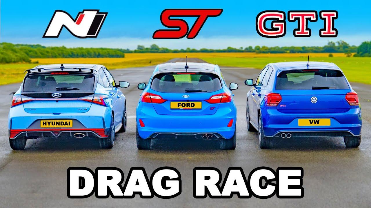 Download i20N v Fiesta ST v Polo GTI: DRAG RACE