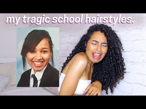 REACTING TO MY TRAGIC HIGH SCHOOL HAIRSTYLE FAILS - NATURALLY CURLY HAIR by Lana Summer