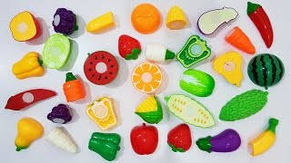 Velcro FRUITS VEGETABLES Toy, Ghép Đúng Đồ Chơi Rau Củ Quả, Học Tên Rau Củ Qủa, BaBiBum