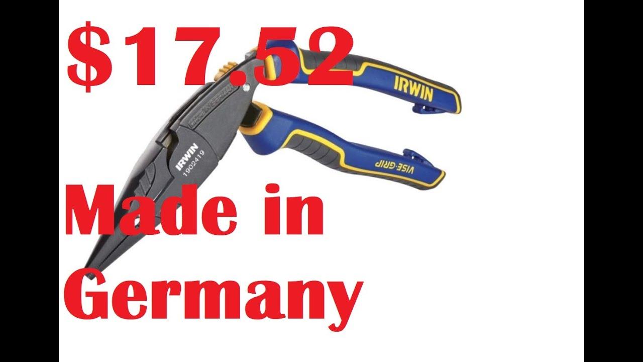 "IRWIN Tools 1902419 VISE-GRIP Pliers Long Nose Ergonomic Multi Plier 8/"" Germany"