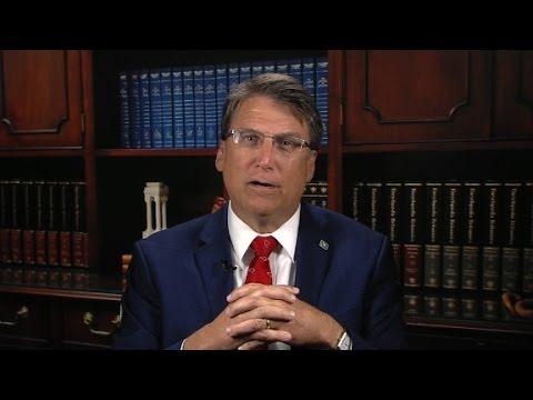 North Carolina governor defends bathroom law