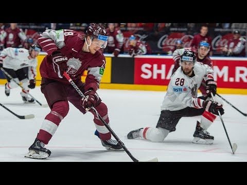 Team Latvia Scores Four Goals In 3rd Period Of 5-2 Win Vs. Team Austria - IIHF World Championship
