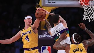 Alex Caruso with no regard for Lonzo's health | LA Lakers vs Pelicans