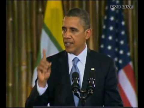 Obama speech at University of Yangon - DVB Live