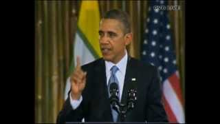 Obama speech at University of Yangon - DVB Live