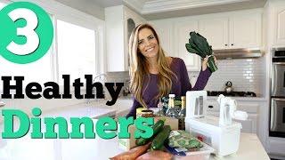 3 Easy & Healthy Dinner Ideas! Lemon Chicken, Sriracha Salmon & Zoodles!