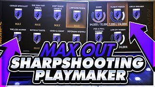 FASTEST WAY TO MAX OUT A SHARPSH00TING PLAYMAKERS SH00TING & KEY BADGES INSTANTLY🔐 NBA 2K18 TIPS