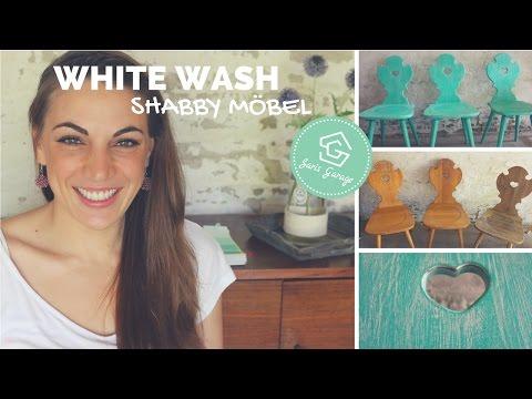 Stühle Whitewash | Möbel Aufbereiten | DIY | Upcycling | How To | Selber Bauen | Stuhl