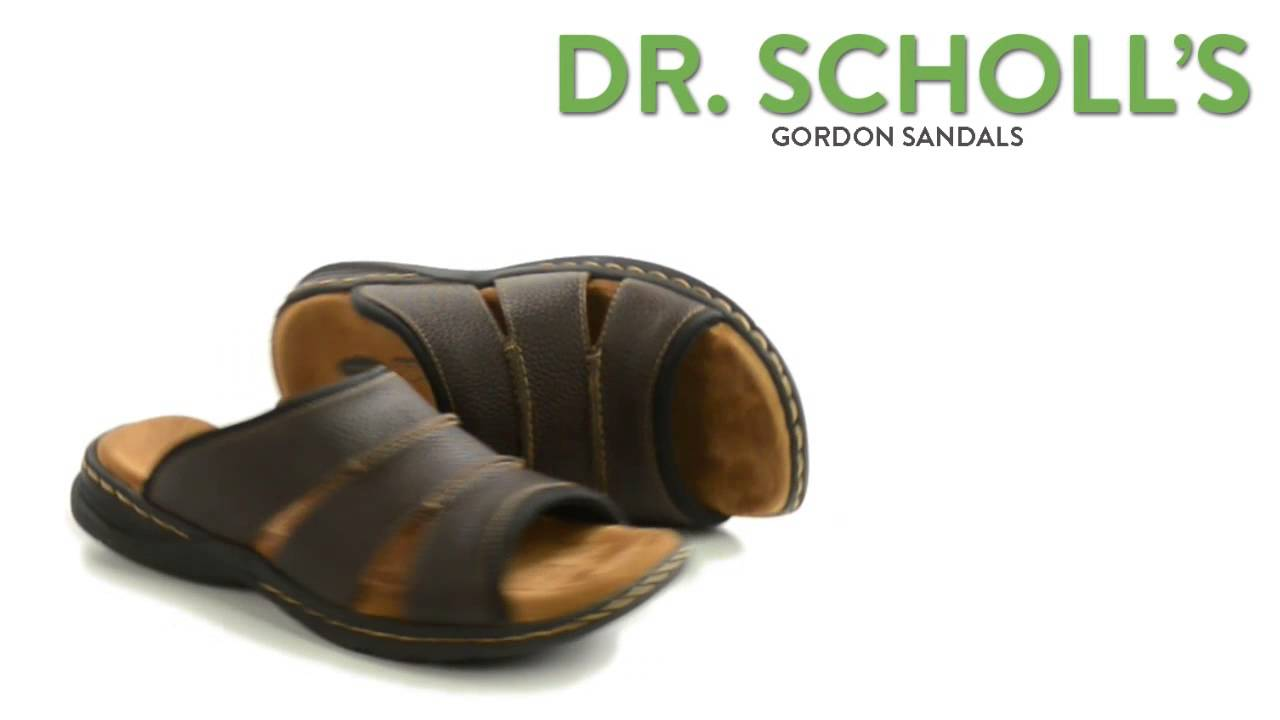 701019f192fa Dr. Scholl s Gordon Sandals -Leather (For Men) - YouTube