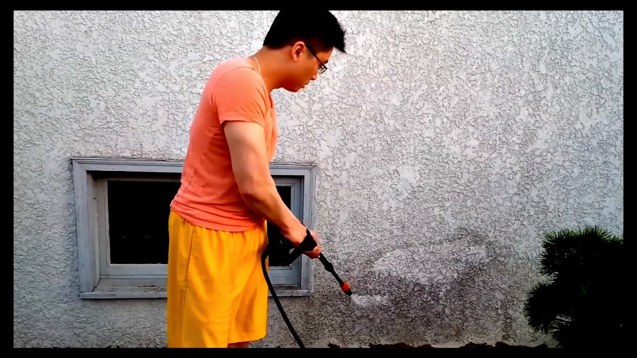 How to clean grease and debris off concrete and walls for Cleaning oil off cement