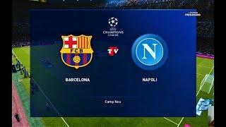 Gambar cover PES 2020   Barcelona vs Napoli   UEFA Champions League - UCL   Gameplay PC