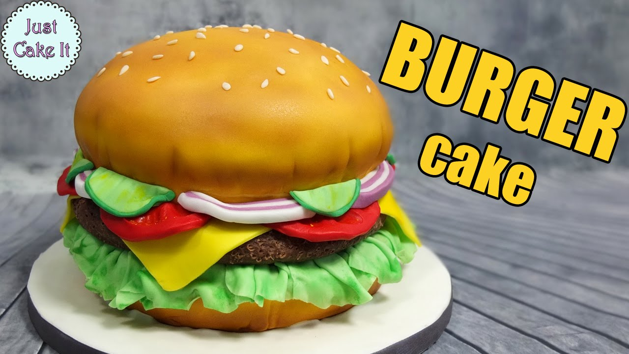 How To Make A Burger Cake With Fondant