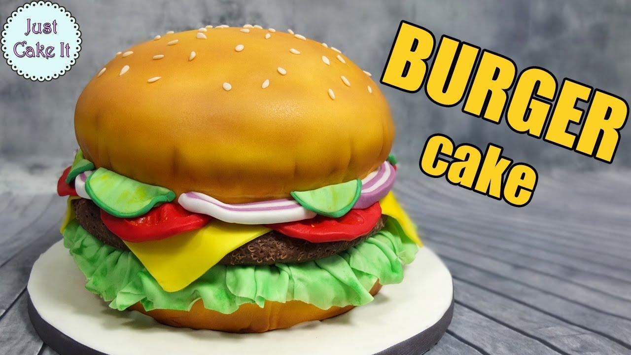 How To Make A Hamburger Cake Easy Way Its All Cake Inside Youtube